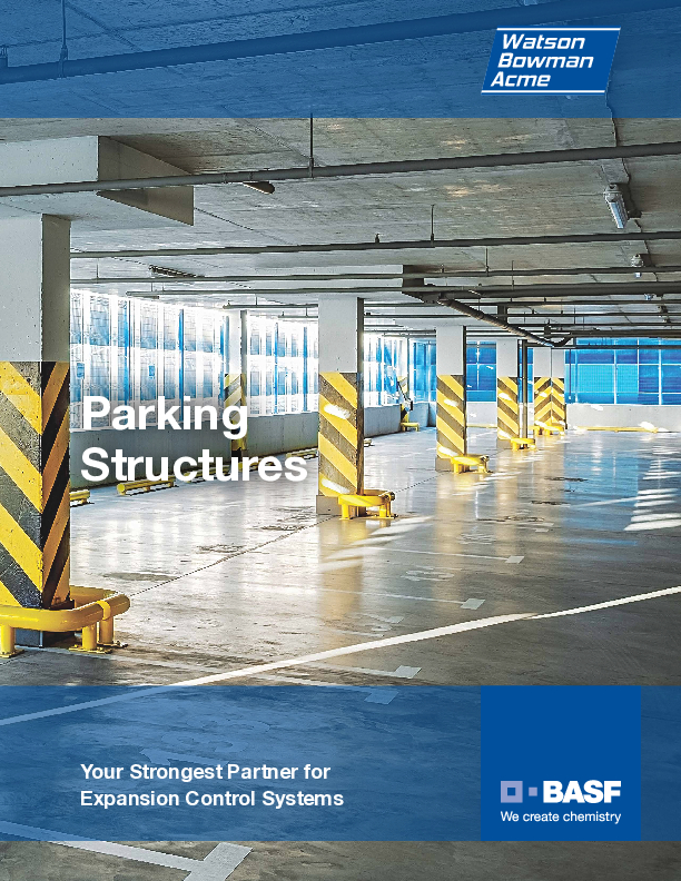 Wabo® Parking Structures overview brochure Cover