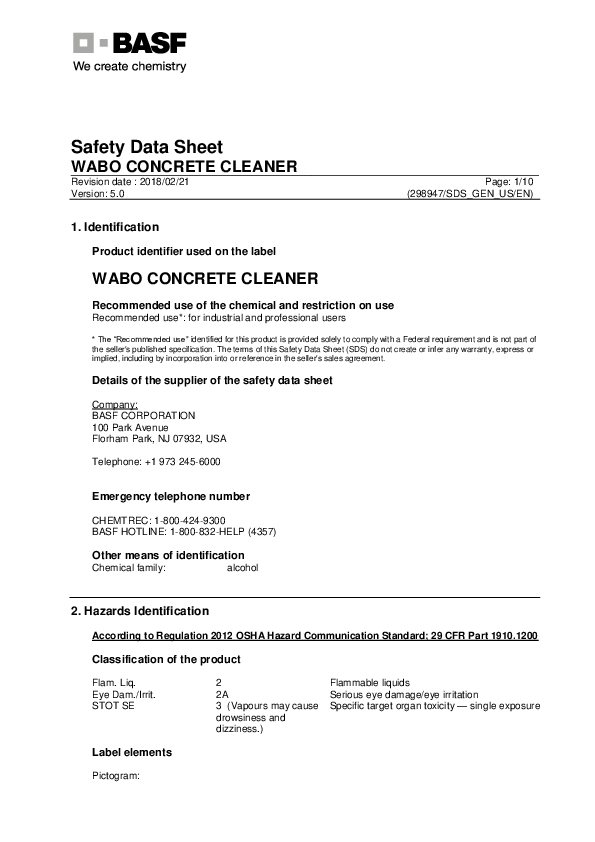 Wabo®ConcreteCleaner (US English) Cover