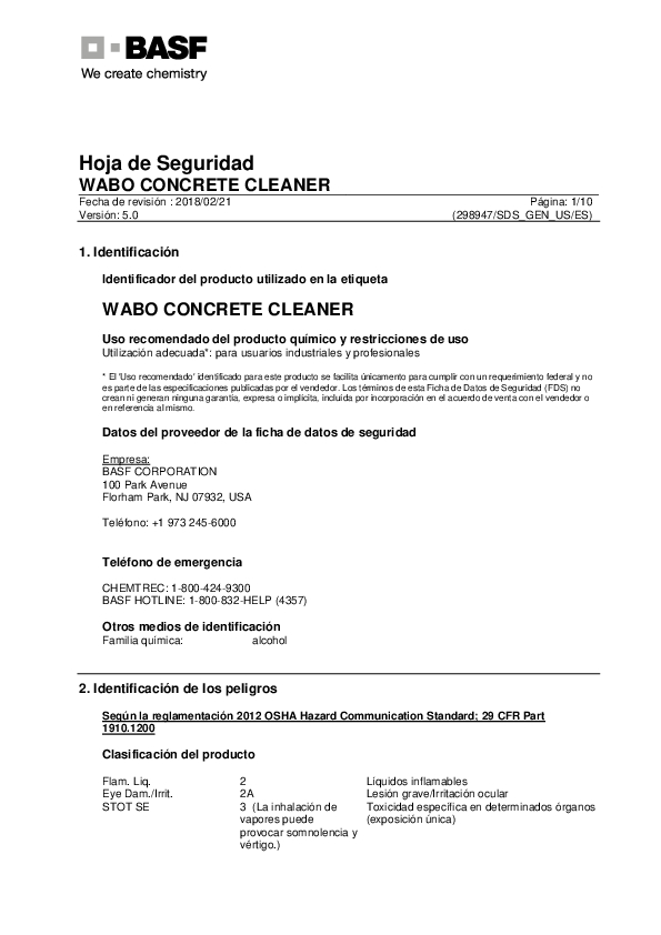 Wabo®ConcreteCleaner (US Spanish) Cover