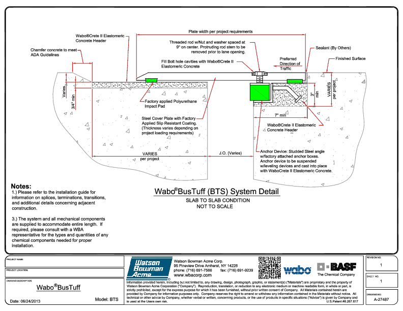 Wabo®BusTuff (BTS) CAD Detail Cover
