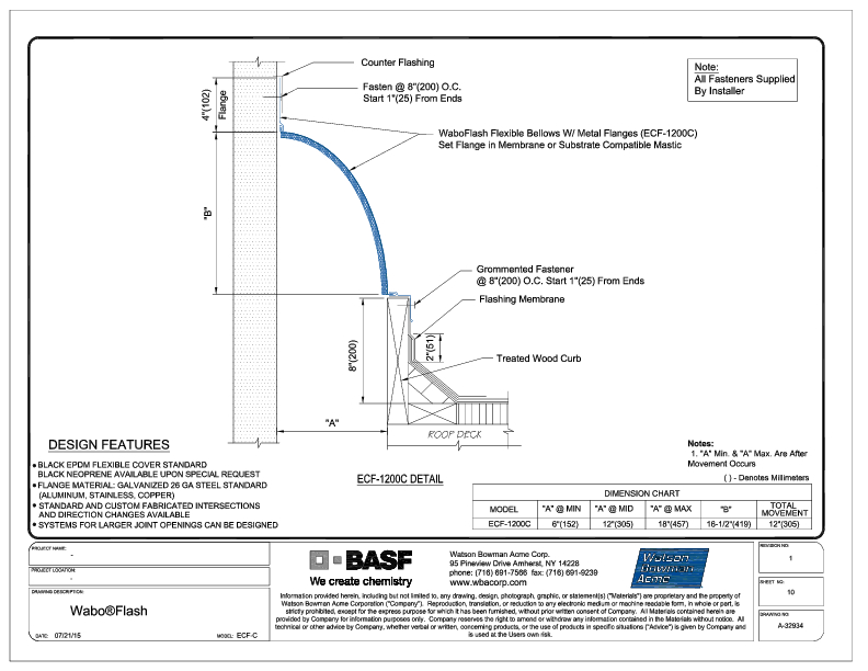 Wabo®Flash (ECF-1200C) CAD Detail Cover