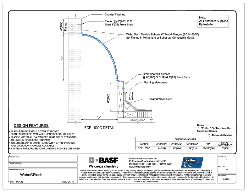 Wabo®Flash (ECF-1600C) CAD Detail Cover