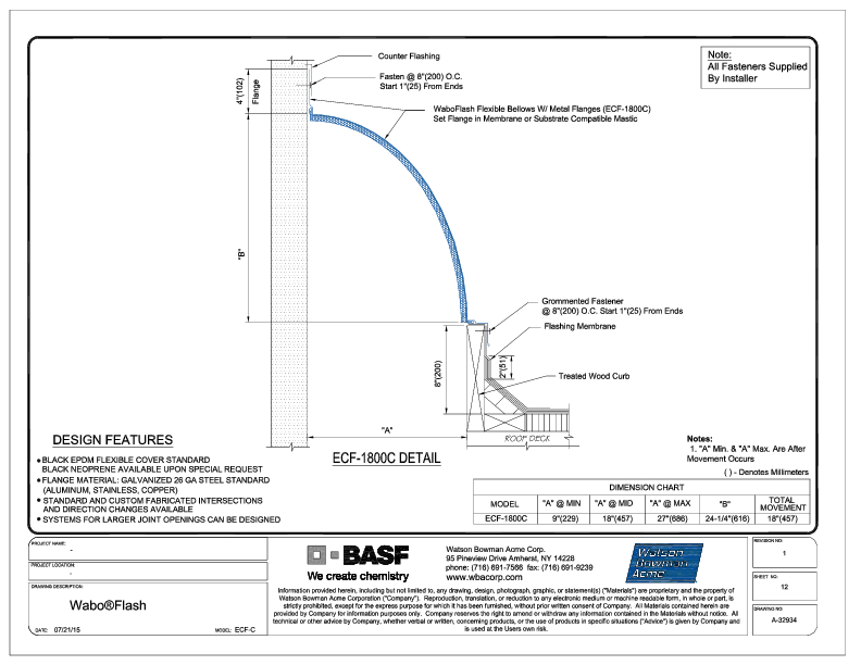 Wabo®Flash (ECF-1800C) CAD Detail Cover
