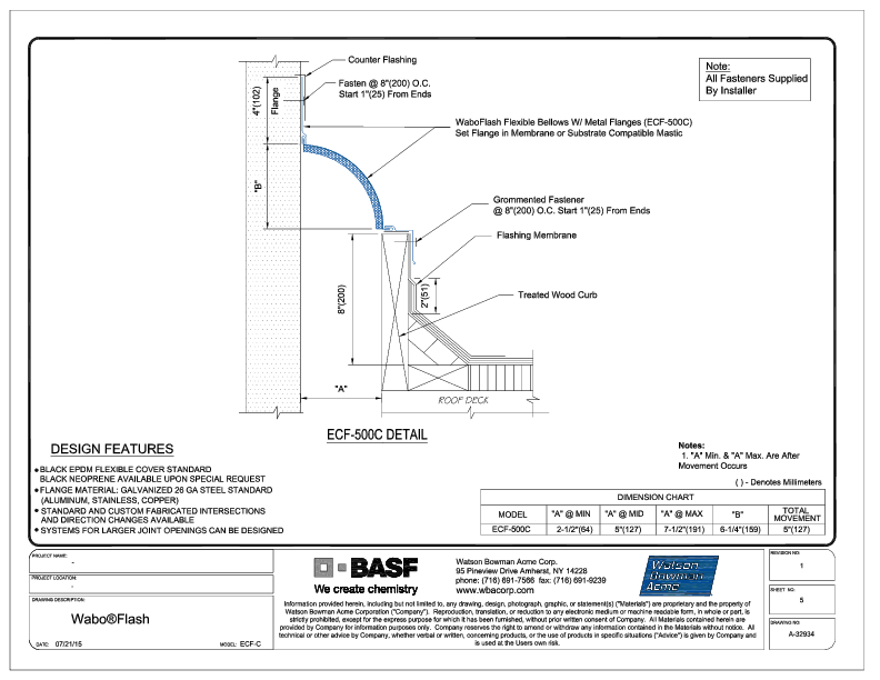Wabo®Flash (ECF-500C) CAD Detail Cover