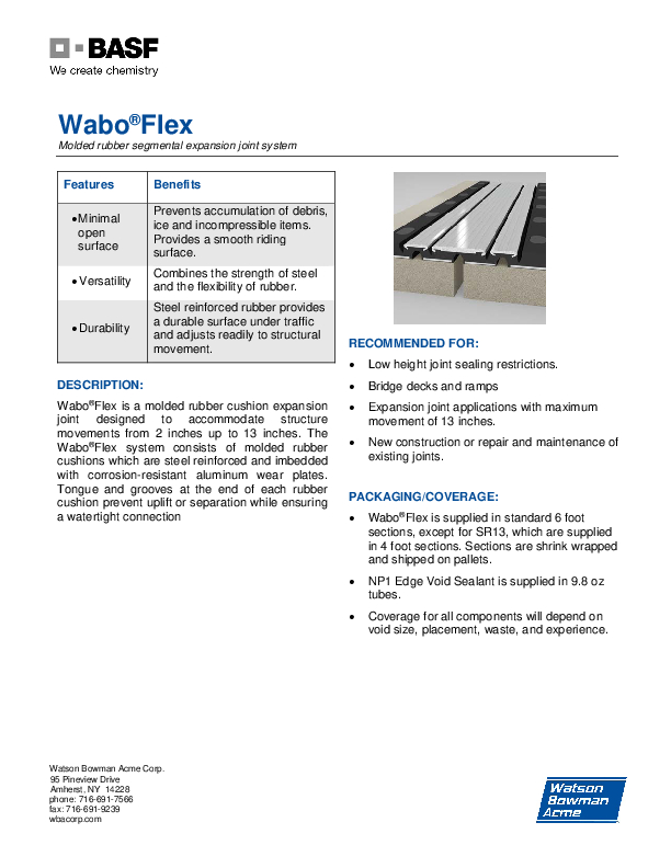 Wabo®Flex (SR) Technical Data Sheet Cover