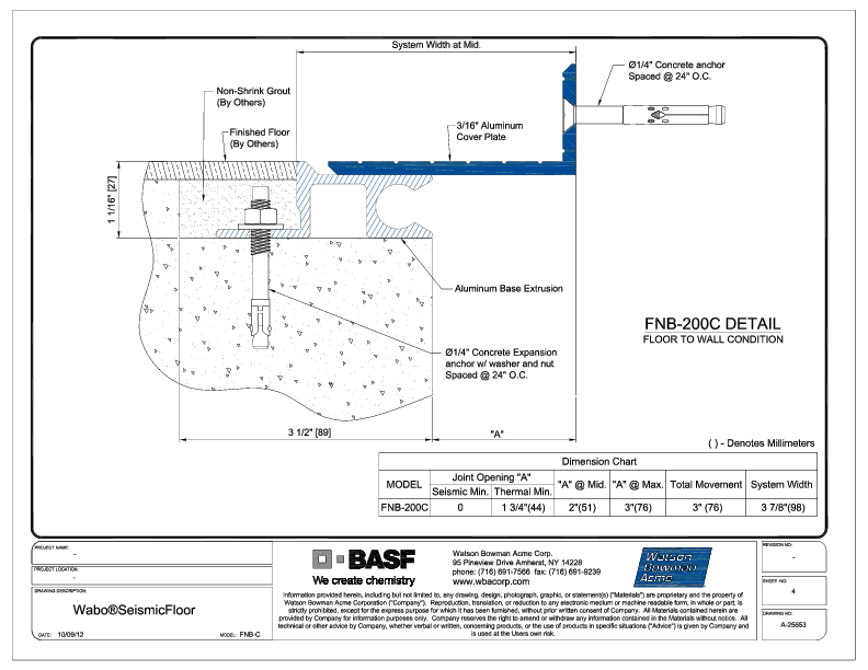 Wabo®SeismicFloor (FNB-200C) CAD Detail Cover