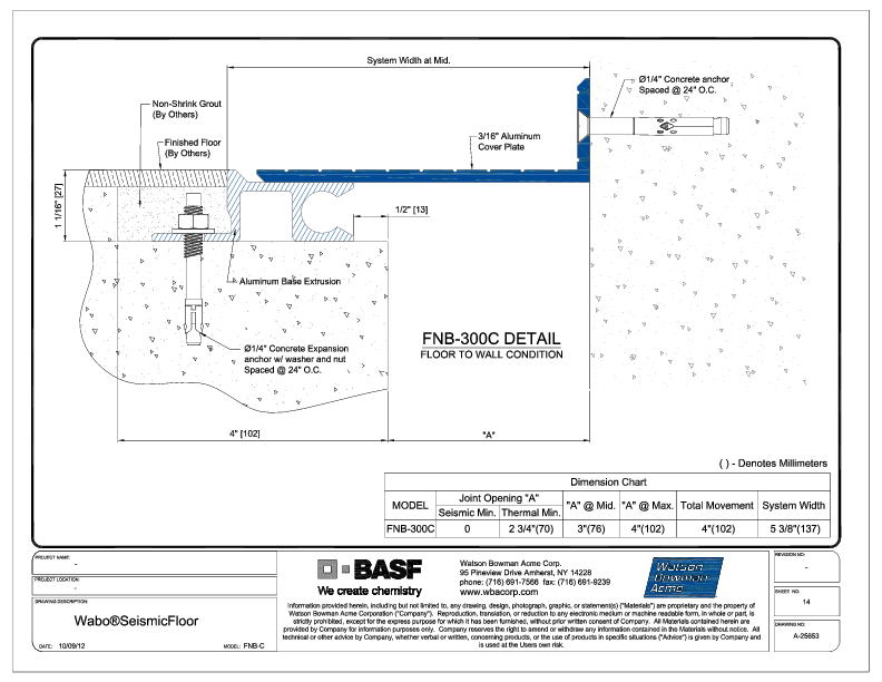 Wabo®SeismicFloor (FNB-300C) CAD Detail Cover