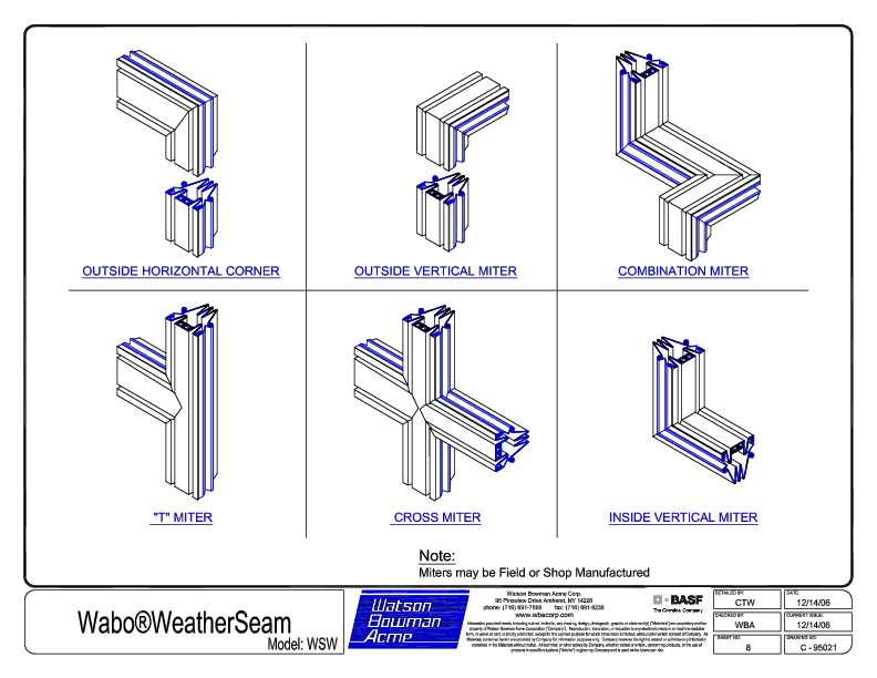 Wabo®WeatherSeam (WSW) Mitres CAD Detail Cover