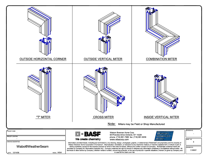 Wabo®WeatherSeam (WSE) CAD Detail Cover